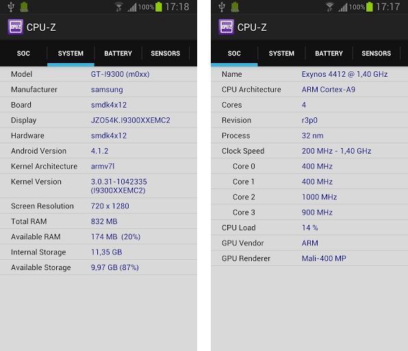 Aplicativo de diagnóstico de hardware CPU-Z chega ao Android