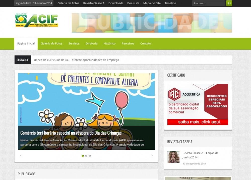 OraSystems coloca no ar novo portal de conteúdo da Associação Comercial e Industrial de Fernandópolis